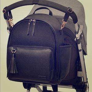 Skip Hop Diaper Leather Backpack